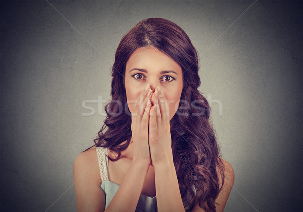 Concerned young woman Stock photo © ichiosea