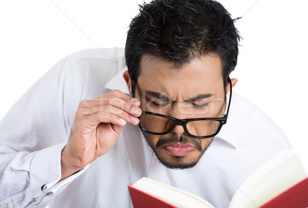 man with eyesight problem Stock photo © ichiosea