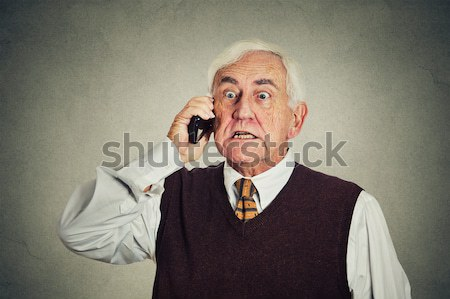 middle aged businessman executive with neck pain Stock photo © ichiosea