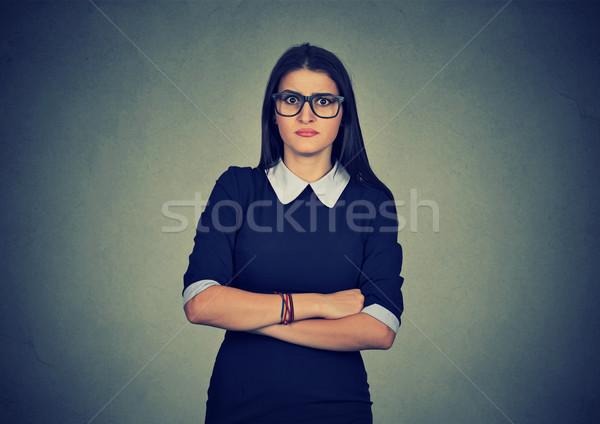 Colère grincheux femme mauvais Photo stock © ichiosea