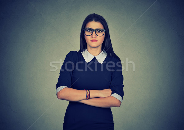 Af boos knorrig vrouw slechte Stockfoto © ichiosea