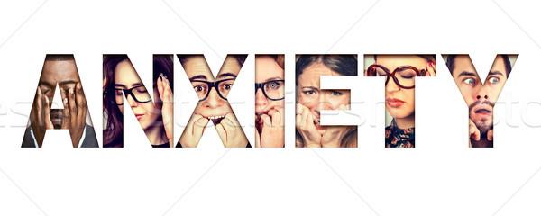 Parola ansia ansioso facce uomini Foto d'archivio © ichiosea