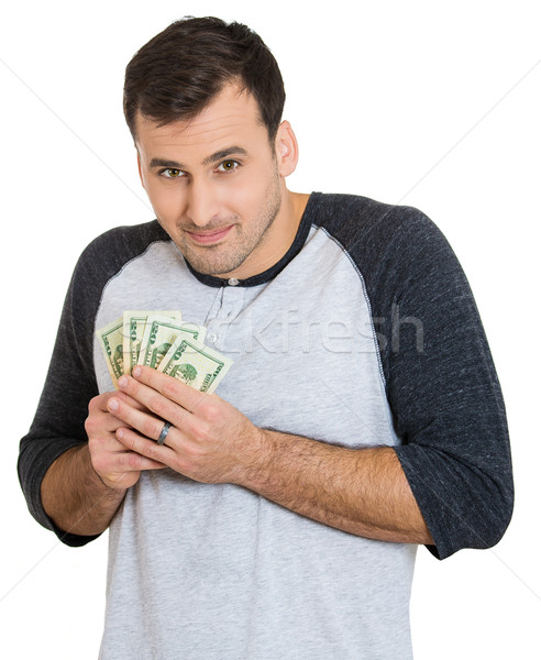 man possessive about money Stock photo © ichiosea