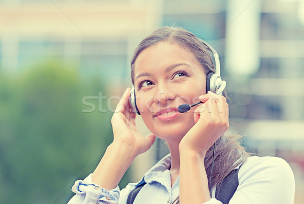 customer service representative, call center agent Stock photo © ichiosea