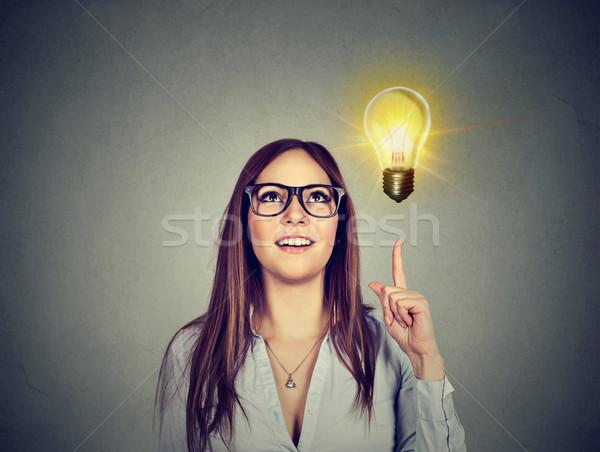 女性 ポインティング 明るい 電球 成功 成長 ストックフォト © ichiosea