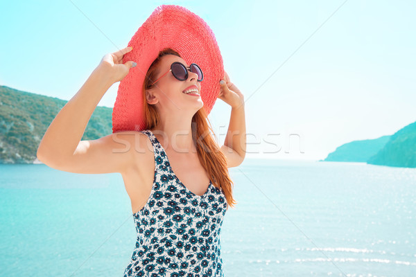 Europa Grecia viaggio vacanze donna Foto d'archivio © ichiosea