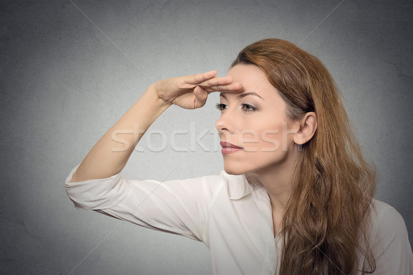 woman looking away into the future Stock photo © ichiosea