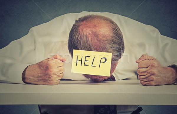 Cansado senior empregado ajudar frustrado Foto stock © ichiosea