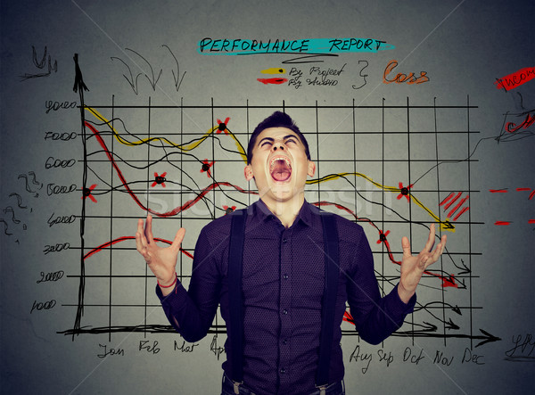 man frustrated with financial results performance report  Stock photo © ichiosea