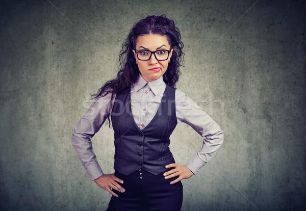 Irritado formal menina óculos mulher elegante Foto stock © ichiosea