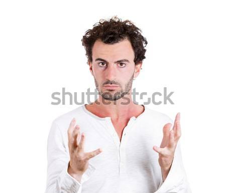 Confusion portrait jeunes voix homme Photo stock © ichiosea