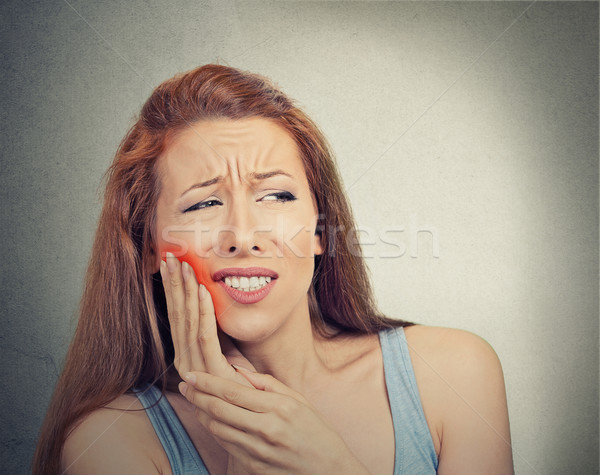 Nő érzékeny fog fájdalom korona probléma Stock fotó © ichiosea
