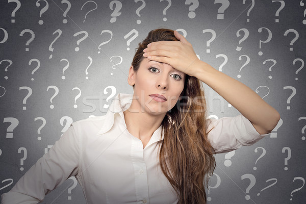 stressed woman has many questions Stock photo © ichiosea