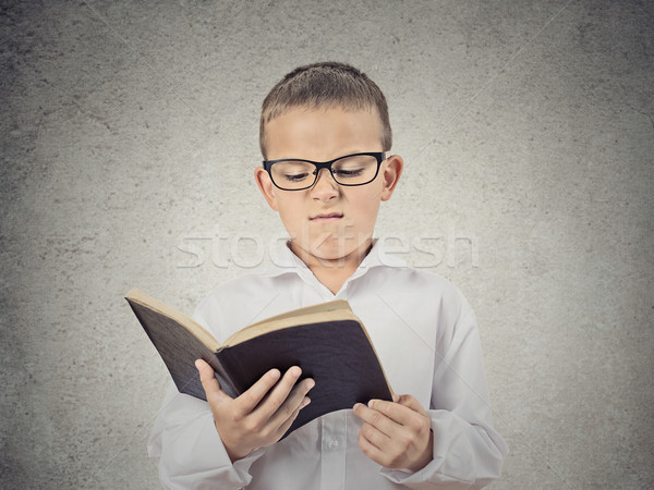 несчастный мальчика чтение книга портрет Сток-фото © ichiosea