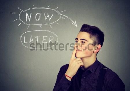 Wanhopig man schreeuwen vragen helpen vergiffenis Stockfoto © ichiosea