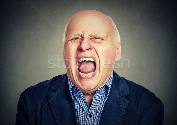 portrait of senior angry man Stock photo © ichiosea