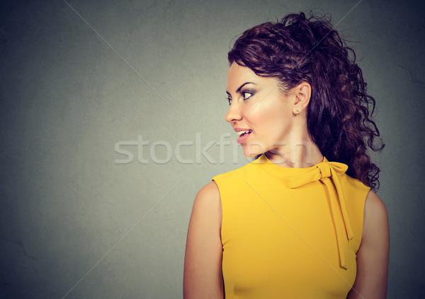 Side profile of a beautiful woman  Stock photo © ichiosea