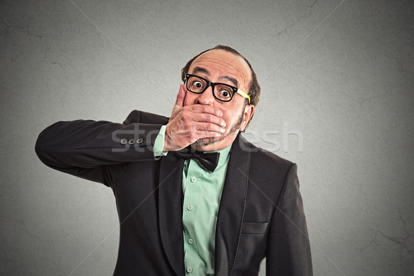 Stock photo: Shut up mouth, keep corporate deals secret