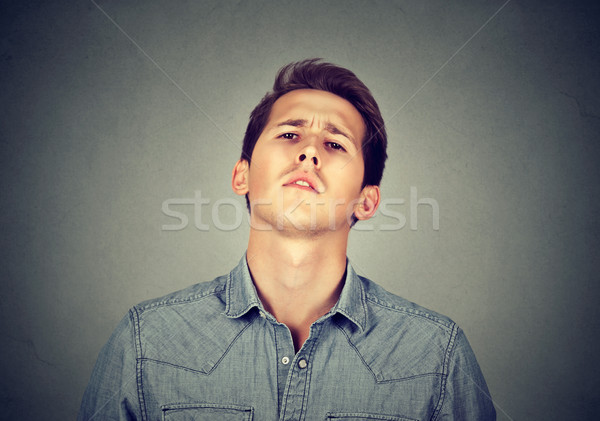 Arrogant bold self important stuck up man with napoleon complex Stock photo © ichiosea