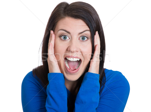 Surprised woman screaming Stock photo © ichiosea