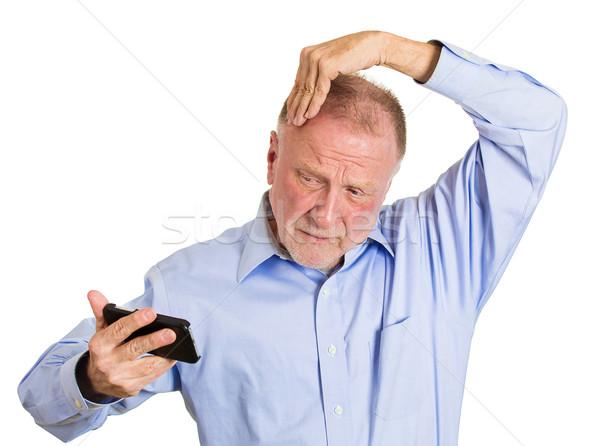 Hair loss or bad text Stock photo © ichiosea