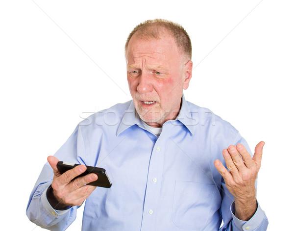 Bad news on cellphone device Stock photo © ichiosea