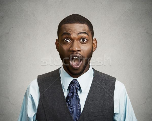 Shocked, surprised business man Stock photo © ichiosea