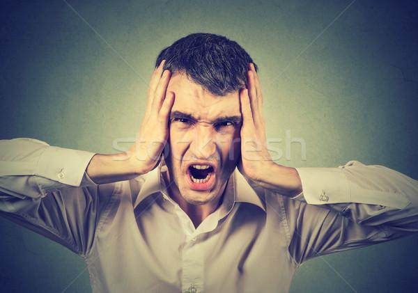 Screaming stressed man Stock photo © ichiosea