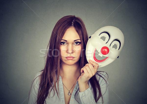 Zaklatott aggódó nő szomorú elvesz el Stock fotó © ichiosea