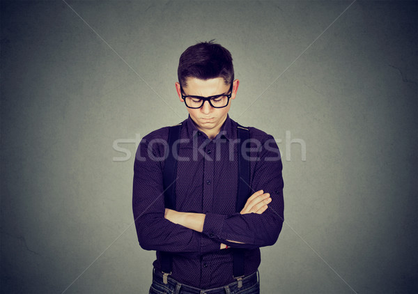 Angry grumpy young man  Stock photo © ichiosea