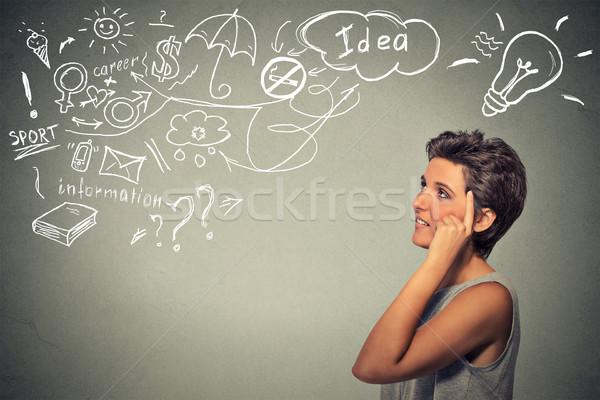 счастливым мышления многие Сток-фото © ichiosea