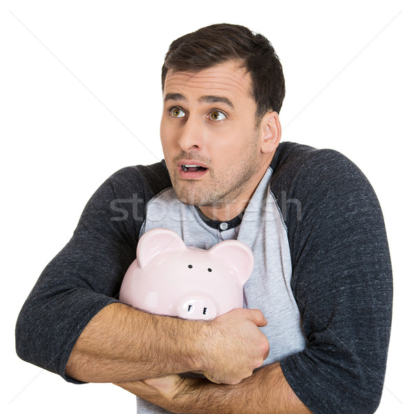 guy possessive about his savings Stock photo © ichiosea
