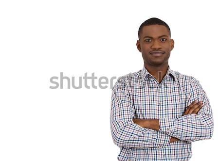Stock fotó: Mosolyog · férfi · diák · közelkép · portré · jóképű