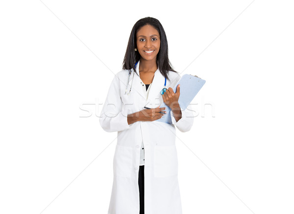 Portrait confident African American female doctor medical professional Stock photo © ichiosea