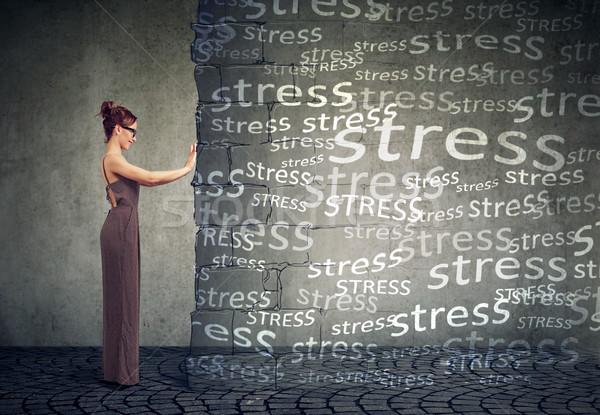 Woman blocking negative emotions and stress Stock photo © ichiosea