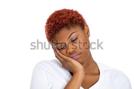 Depresso donna primo piano ritratto triste sola Foto d'archivio © ichiosea