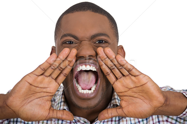 angry man yelling Stock photo © ichiosea