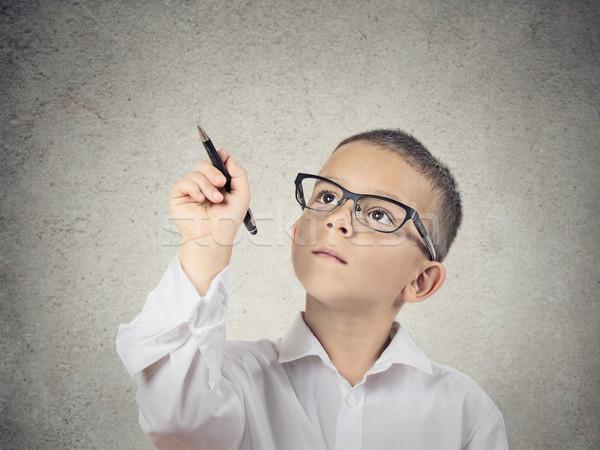 мальчика Дать пер доске портрет Сток-фото © ichiosea