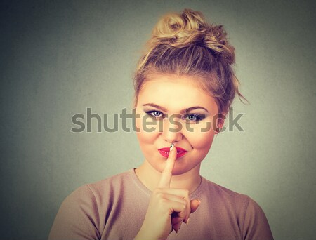 disgusted man pinches nose with fingers something stinks bad smell  Stock photo © ichiosea