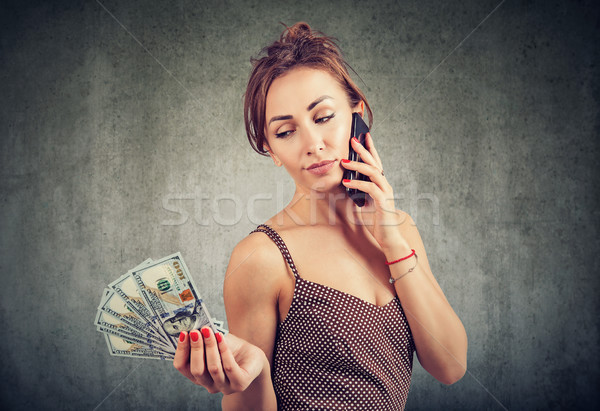 Woman speaking on phone in roaming Stock photo © ichiosea