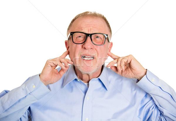 громко портрет сердиться старший человека Сток-фото © ichiosea