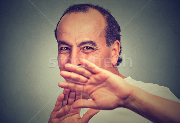 portrait of a disgusted middle aged man Stock photo © ichiosea