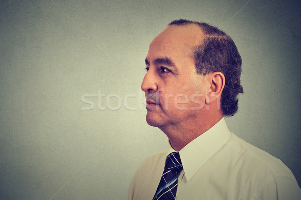 Side profile of a middle aged man  Stock photo © ichiosea