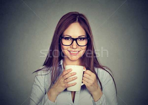 Woman with cup of tea or coffee  Stock photo © ichiosea