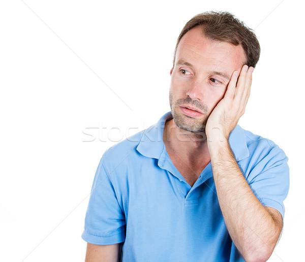 Triest man portret ongelukkig vent Stockfoto © ichiosea