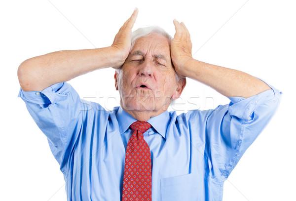 Stary straszny ból przystojny starszych człowiek Zdjęcia stock © ichiosea