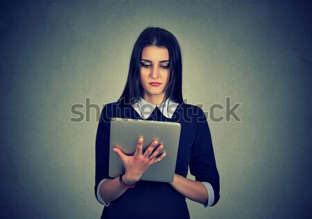 woman with heart attack, pain, health problem holding touching her chest Stock photo © ichiosea
