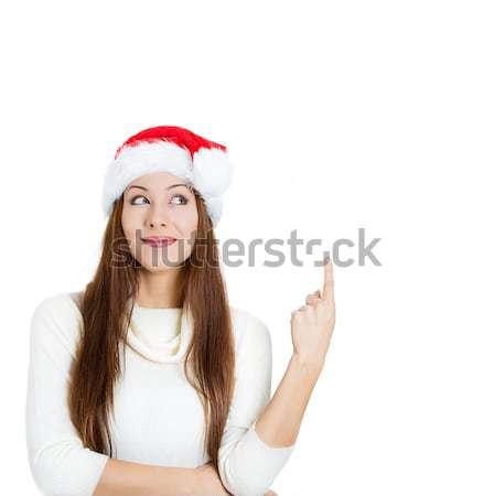 Stockfoto: Mooie · jonge · opgewonden · christmas · vrouw