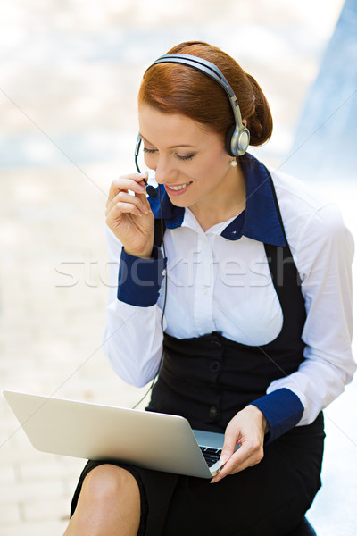 Service clients représentant femme d'affaires portrait jeunes Photo stock © ichiosea