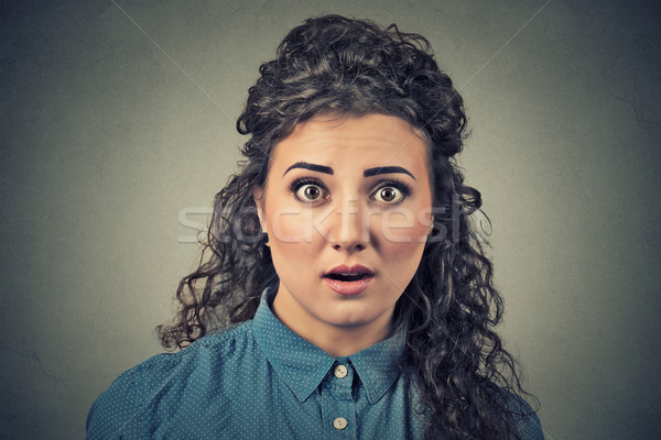 Concerned scared shocked woman Stock photo © ichiosea